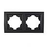 ElectroHouse Рамка подвійна Enzo графіт ЕН-2201-PG