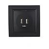 ElectroHouse Розетка USB (2 порти) Бездоганний графіт Enzo 2A IP22