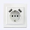 ElectroHouse USB Розетка подвійна + розетка з / з Enzo EH-5321