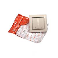 ElectroHouse Вимикач подвійний прохідний Enzo IP22