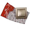 ElectroHouse Вимикач з підсвічуванням подвійний Розкішно золотий Enzo IP22