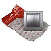 ElectroHouse Вимикач подвійний Срібний камінь Enzo IP22