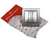 ElectroHouse Вимикач потрійний Срібний камінь Enzo IP22