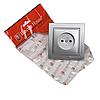 ElectroHouse Розетка без заземлення Срібний камінь Enzo 16A IP22