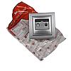ElectroHouse Розетка телефонна Срібний камінь Enzo IP22