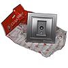 ElectroHouse Розетка телевізійна Срібний камінь Enzo IP22