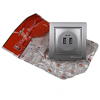 ElectroHouse Розетка USB (2 порта) 2А
