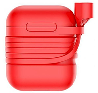 Чехол Baseus Silicone Case для Apple AirPods Red