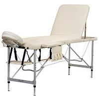 Масажний стіл професійний алюмінієвий 3-х сегментний BodyFit 599 складаний кушетка для масажу, фото 1