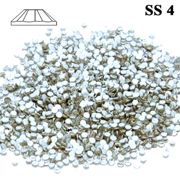 Стразы Камни для Ногтей Diamond Crystal SS 4 Серебристые Прозрачные Упаковка 1440 шт, Декоры для Ногтей, Ногти