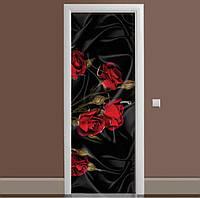 Декоративная виниловая наклейка на дверь ReD Роза, 65х200 см