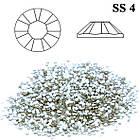 Стразы Камни для Ногтей Diamond Crystal SS 4 Серебристые Прозрачные Упаковка 1440 шт, Декоры для Ногтей, Ногти, фото 3
