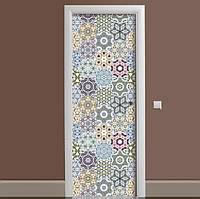 Декоративная виниловая наклейка на дверь ReD Геометрический орнамент, 65х200 см