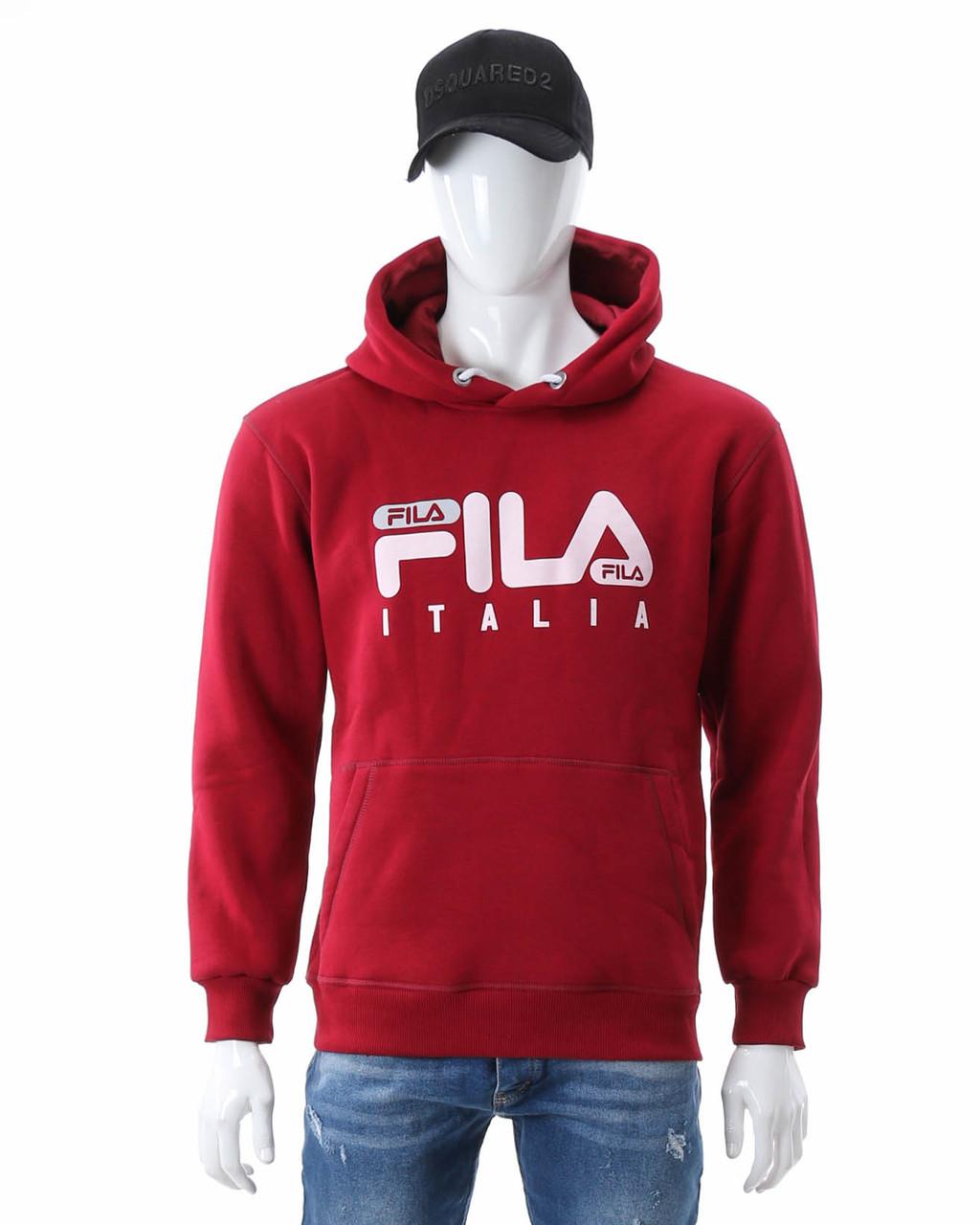 Худи осень-зима бордо FILA ITALIA с лого Т-2 BOR L(Р) 20-478-203