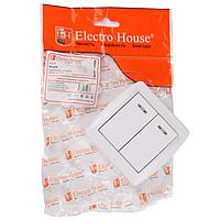 ElectroHouse Выключатель с подсветкой двойной