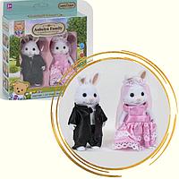 Набор флоксовых фигурок Happy Family | Счастливая семья зайчиков