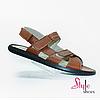 Летние сандалии мужские кожаные
