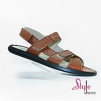 Летние сандалии мужские кожаные, фото 1