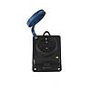 ElectroHouse Каучукова настінна розетка із заземленням і кришкою 16A IP 44 Garant
