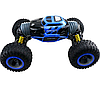 Трюковая машинка трансформер на радиоуправлении огромная Hyper Big Foot 48 см джип перевертыш вездеход синяя, фото 3