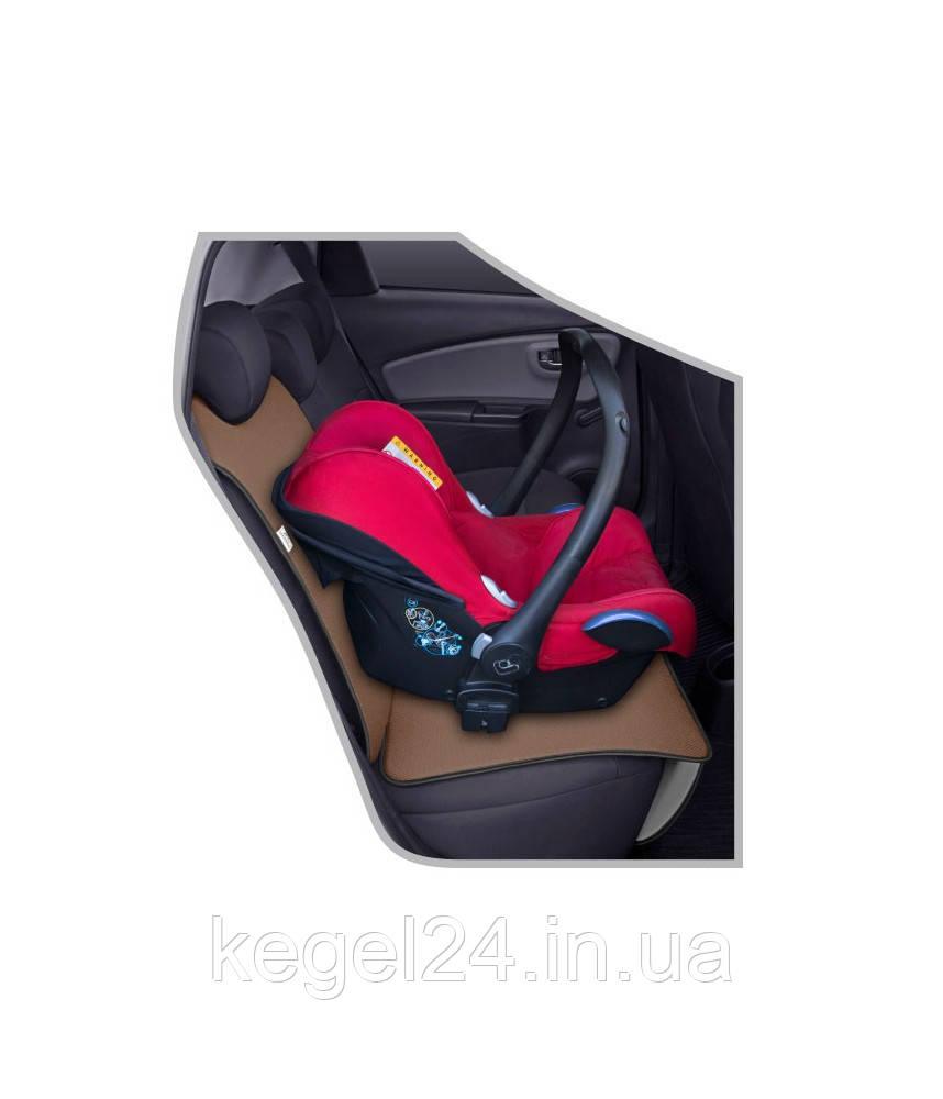 Захисний килимок під дитяче автомобільне крісло JUNIOR бежевий