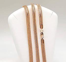 """Цепочка """"Двойной колос"""" SONATA из медицинского золота, позолота РО, 31356                   (55 см)"""