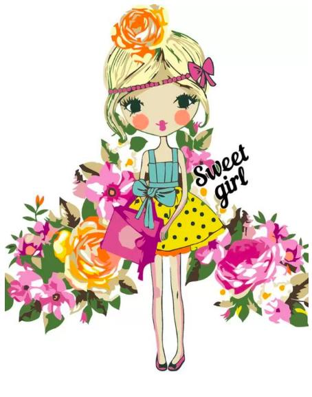 Картина по номерам Sweet Girl