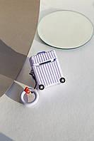 Чехлы для наушников Чехол для наушников Apple Чемоданчик с колесами сиреневый One size (Hox-16)