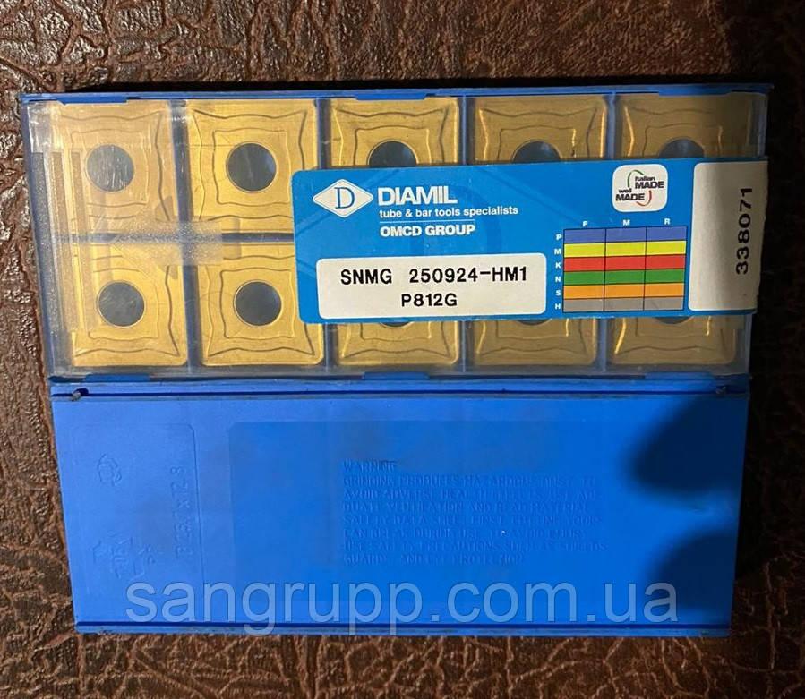 Пластина твердосплавная DIAMIL SNMG 250924-HM1 P812G