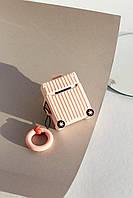 Чехлы для наушников Чехол для наушников Apple Чемоданчик с колесами пудровый One size (Hox-16)