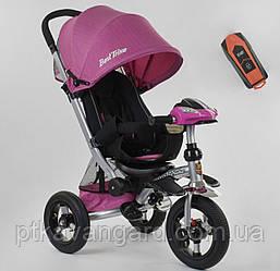 Велосипед 3-х колёсный Best Trike, Розовый, фара с USB, ручка телескопическая, пульт 698 / 32-110
