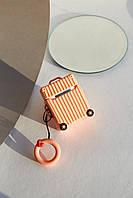 Чехлы для наушников Чехол для наушников Apple Чемоданчик с колесами персиковый One size (Hox-16)