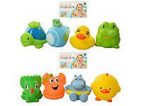 Детская резиновая игрушка для ванной Брызгалка для купания (4 шт. в комлекте) от 6см