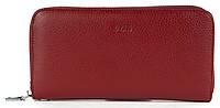 Стильный оригинальный женский кожаный кошелек барсетка высокого качества LVAN art. 06-225 бордовый, фото 1