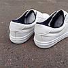 ПОСЛЕДНИЙ РАЗМЕР 44 Белые кожаные кеды кроссовки деми перфорация демисезон мужские летние экокожа - Фото