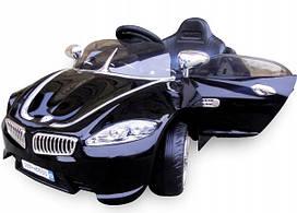 Дитячий електромобіль на акумуляторі Cabrio B3 (Чорний) з пультом управління