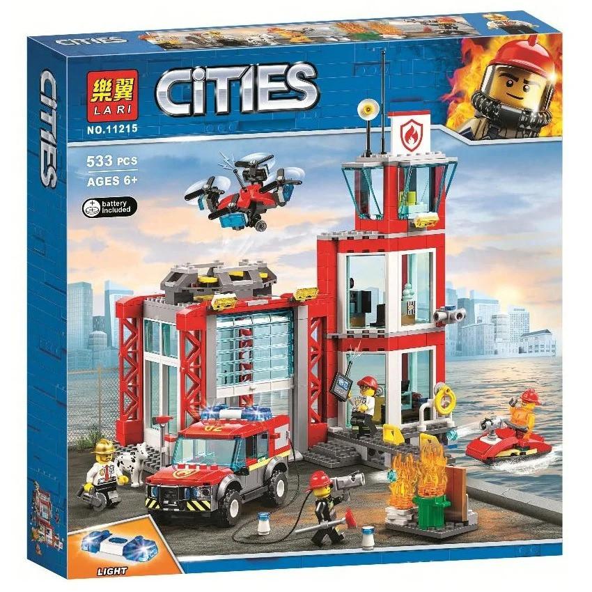 Конструктор BELA (Lary) 11215 CITY -  Пожарное депо (533 дет.)