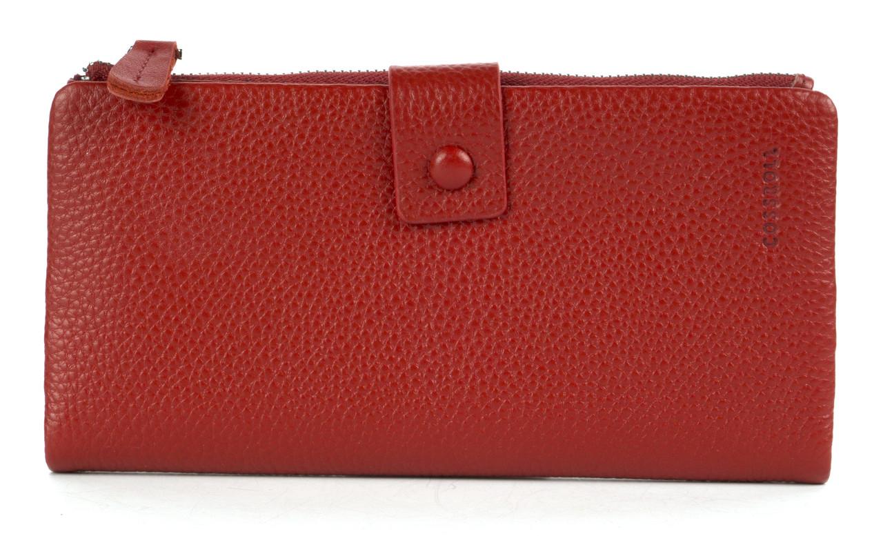 Тонкий стильний жіночий шкіряний гаманець високої якості COSSROLL art. 181-1716-1 червоний