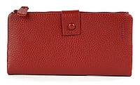 Тонкий стильний жіночий шкіряний гаманець високої якості COSSROLL art. 181-1716-1 червоний, фото 1
