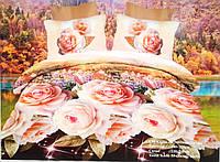 Комплект постельного белья 3 Д,Турция сатин Gemici home 200-220 см.