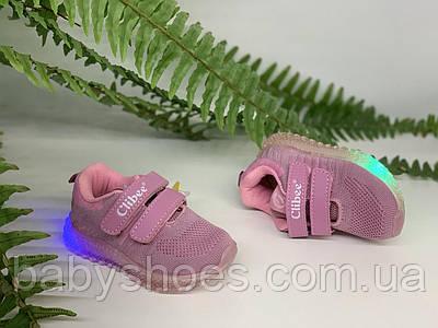 Кроссовки для девочки светодиодные Clibee Польша размер 21-26  КД-518