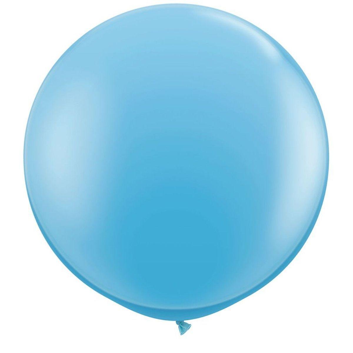 """Шар воздушный Qualatex 36"""" Бледно-голубой pale blue, 91см"""