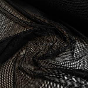 Ткань сетка спорт подкладочная черная