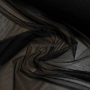 Тканина сітка спорт підкладкова чорна