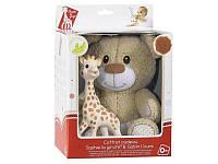 Vulli - Подарочный набор: прорезыватель Жирафа Софи и мягкая игрушка медведь Габэн