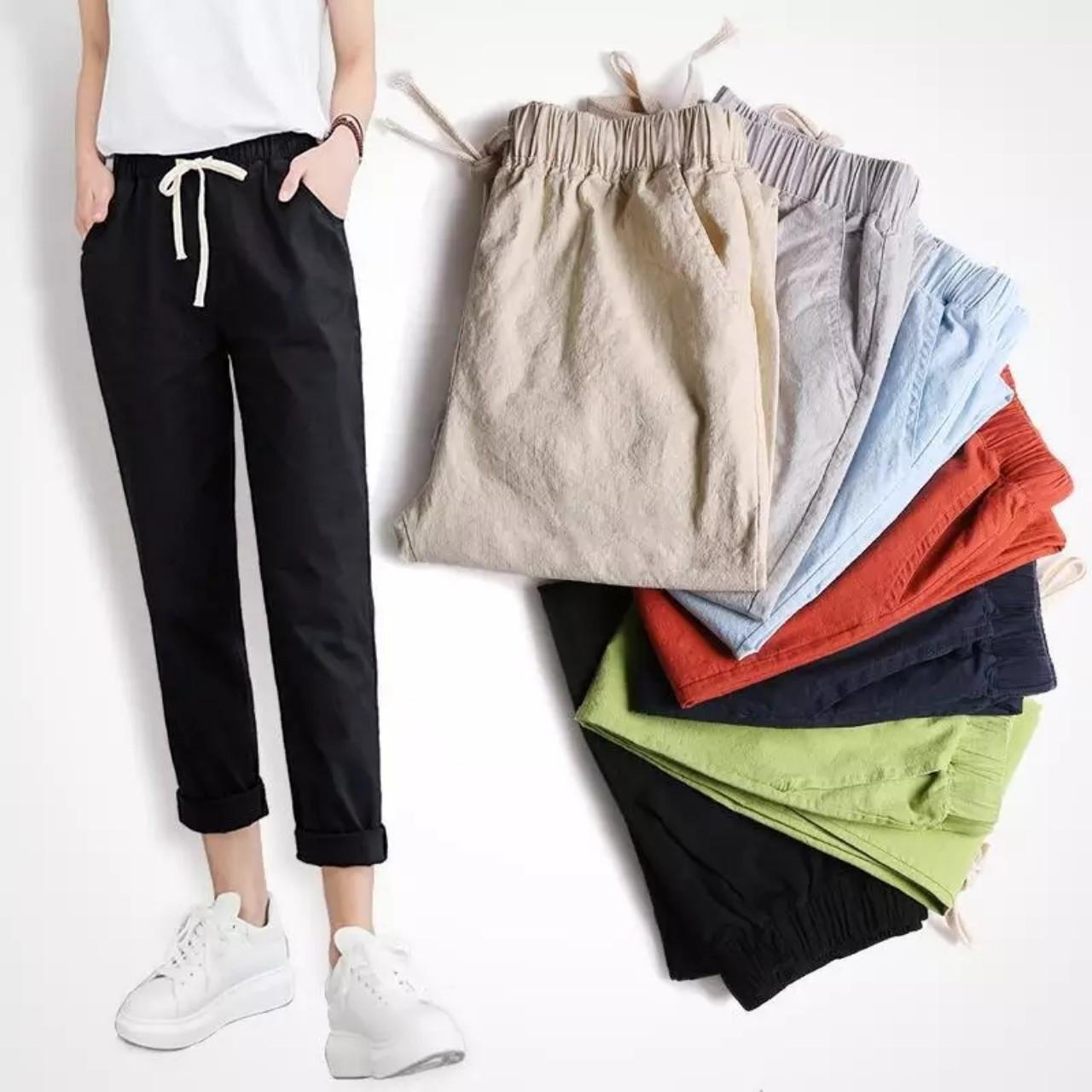 Повседневные хлопковые летние штаны 42-48 (в расцветках)
