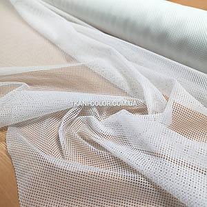 Ткань сетка спорт подкладочная белая