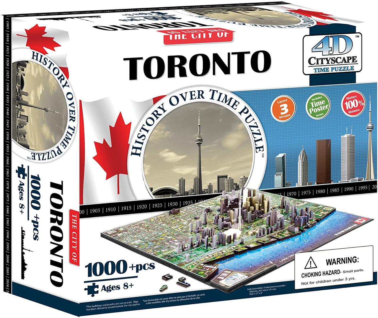 Пазл об'ємний 1000 4D Cityscape Торонто (Toronto)
