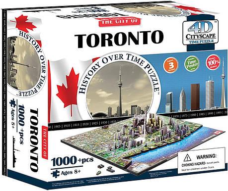 Пазл об'ємний 1000 4D Cityscape Торонто (Toronto), фото 2