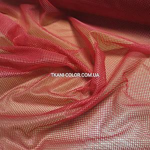 Ткань сетка спорт подкладочная красная